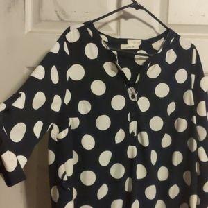 Tops - Polka Dot Tunic Shirt